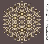 round vector golden snowflake....   Shutterstock .eps vector #1329188117