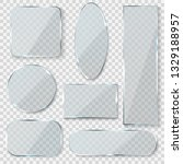 glass blank banners. rectangle... | Shutterstock .eps vector #1329188957