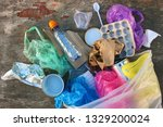 garbage bag with different... | Shutterstock . vector #1329200024