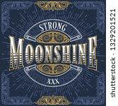 moonshine vintage decorative...   Shutterstock .eps vector #1329201521