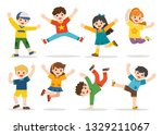 children's activities. happy... | Shutterstock .eps vector #1329211067