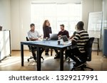 diverse group of young...   Shutterstock . vector #1329217991