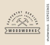 vintage carpentry  woodwork and ...   Shutterstock .eps vector #1329223631