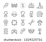 set of award line icons  such... | Shutterstock .eps vector #1329225731