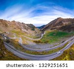 Aerial View Transfagarasan Pass Autumn - Fine Art prints