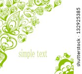 green ornament on a white... | Shutterstock .eps vector #132925385