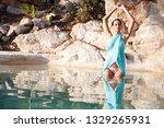 beautiful healthy hispanic... | Shutterstock . vector #1329265931