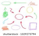 multicolored set of hand drawn... | Shutterstock . vector #1329273794