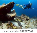 Underwater Shoot Of A Diver...