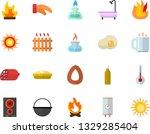 color flat icon set shower flat ... | Shutterstock .eps vector #1329285404