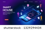 smart home control concept....   Shutterstock .eps vector #1329294434