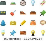 color flat icon set brick wall... | Shutterstock .eps vector #1329295214