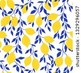 tropical pattern with stylized... | Shutterstock .eps vector #1329296057
