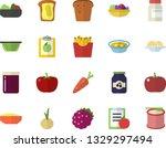 color flat icon set colander... | Shutterstock .eps vector #1329297494