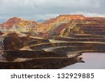 detailed view of copper mine... | Shutterstock . vector #132929885