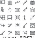 thin line icon set   security...   Shutterstock .eps vector #1329304571