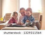 mother and children reading...   Shutterstock . vector #1329311564