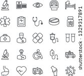 Thin Line Icon Set   Disabled...