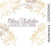 botanic illustration label with ... | Shutterstock .eps vector #1329324341