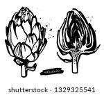 set of black and white...   Shutterstock .eps vector #1329325541