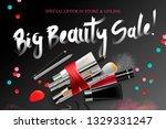 big beauty sale  cosmetics... | Shutterstock .eps vector #1329331247