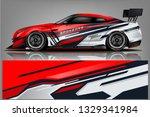 sport car racing wrap design.... | Shutterstock .eps vector #1329341984