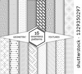 big set of seamless patterns... | Shutterstock .eps vector #1329350297