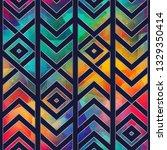 retro mosaic seamless pattern   Shutterstock .eps vector #1329350414
