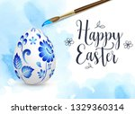 Hand Painted Easter Egg And...