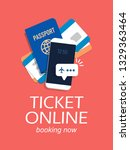 concept for buying tickets... | Shutterstock .eps vector #1329363464