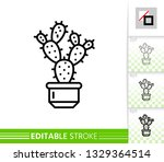 cactus thin line icon....   Shutterstock .eps vector #1329364514