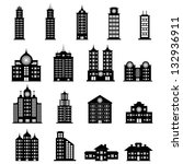 building black and white | Shutterstock .eps vector #132936911