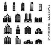 building black and white | Shutterstock .eps vector #132936911