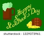 st. patrick's day  vector... | Shutterstock .eps vector #1329373961