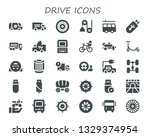drive icon set. 30 filled drive ... | Shutterstock .eps vector #1329374954