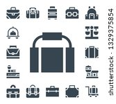 baggage icon set. 17 filled... | Shutterstock .eps vector #1329375854