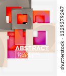 color square composition with... | Shutterstock .eps vector #1329379247