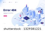 404 isometric page. not working ... | Shutterstock .eps vector #1329381221
