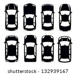 vector black auto icon set on... | Shutterstock .eps vector #132939167