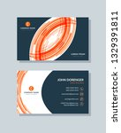 business card template orange... | Shutterstock .eps vector #1329391811