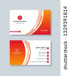 business card template red and... | Shutterstock .eps vector #1329391814
