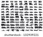 vector black big transportation ... | Shutterstock .eps vector #132939221