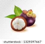 mangosteens queen of fruits ...   Shutterstock .eps vector #1329397667
