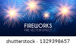 gold shining fireworks in soft... | Shutterstock .eps vector #1329398657