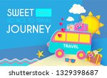 sweet journey. vacation and... | Shutterstock .eps vector #1329398687