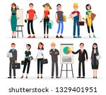 banners of labor day and... | Shutterstock . vector #1329401951