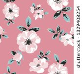 seamless pattern with spring... | Shutterstock .eps vector #1329408254