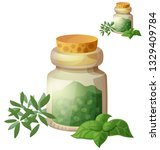 dried herbs. detailed icon... | Shutterstock . vector #1329409784
