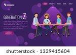 website design with... | Shutterstock .eps vector #1329415604