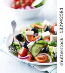 healthy salad with cherry... | Shutterstock . vector #132942581